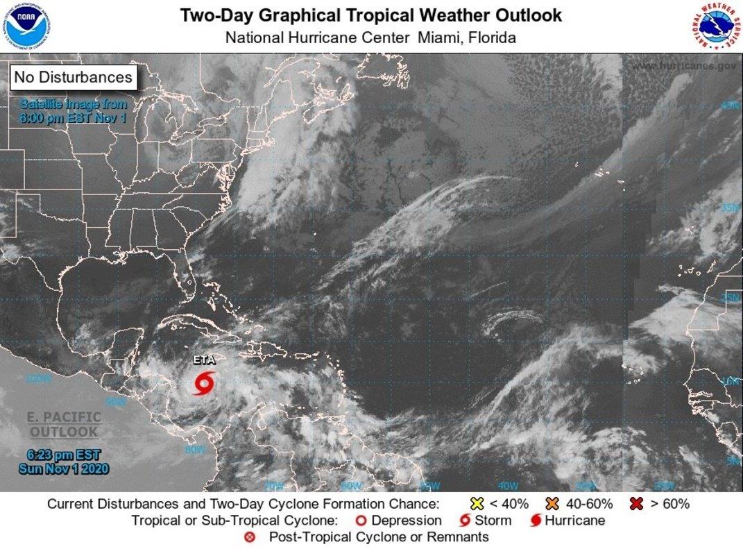 Eta será huracán esta noche, se aproxima a Nicaragua y Honduras