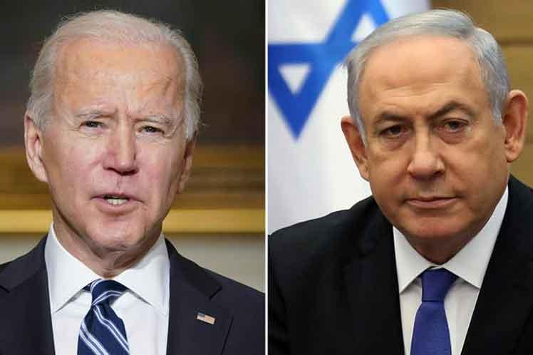 Presidente de EE.UU. y primer ministro de Israel dialogan por primeva vez