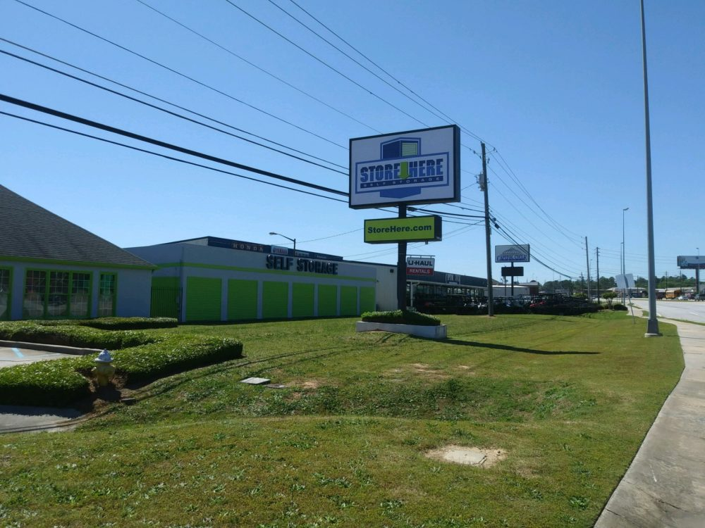 Store Here Self Storage Macon GA Facility Sign