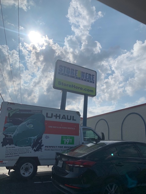 Store Here Self Storage Pantego Sign