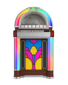 An old jukebox before it is stored