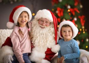 Kids enjoy the holiday season with Santa