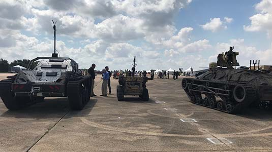 Players gather for robotic combat vehicle competition