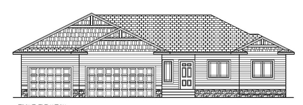 1526 SF Ranch Floor Plans, 3 Bed, 2 Bath, 3 Car - Nielson ... Ranch Home Building Plans Bed Bath on