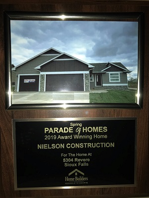 2019 Spring Parade of Homes Award Winner 5304 Revere Sioux Falls