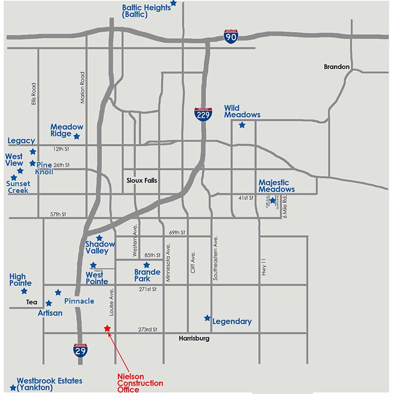 Development Map - lots for sale.