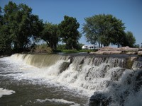 Image of a small waterfall at River Park