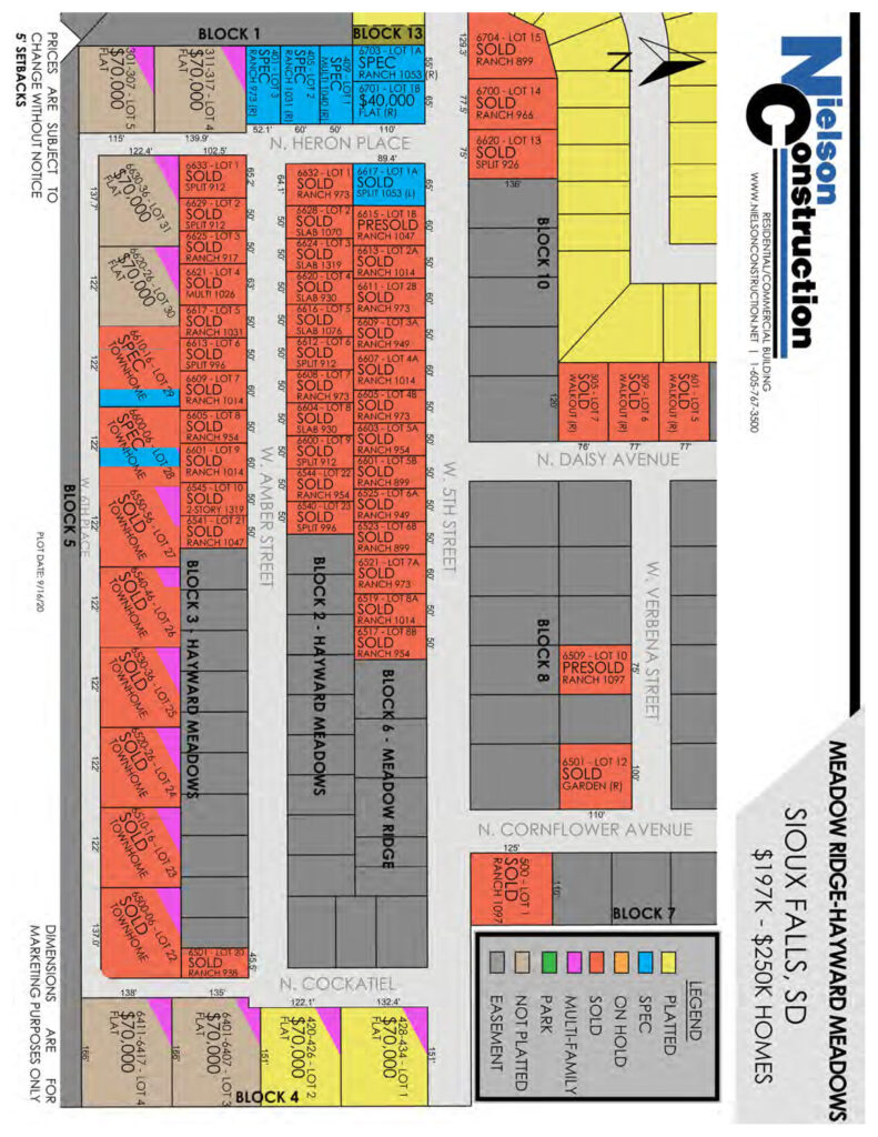 Meadow Ridge Map 9162020