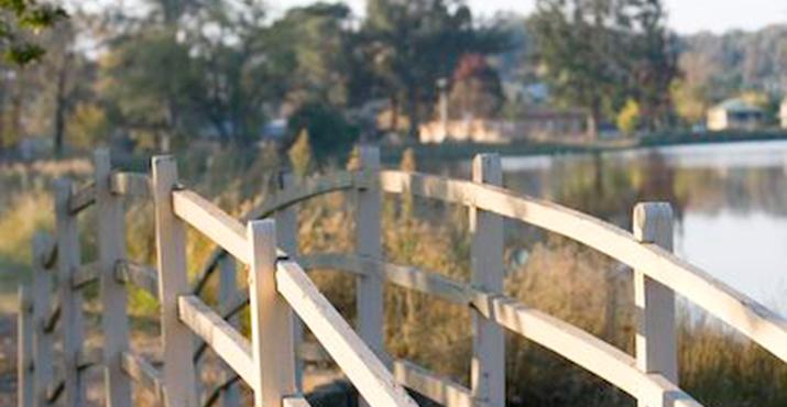 Footbridge at Lake Anderson