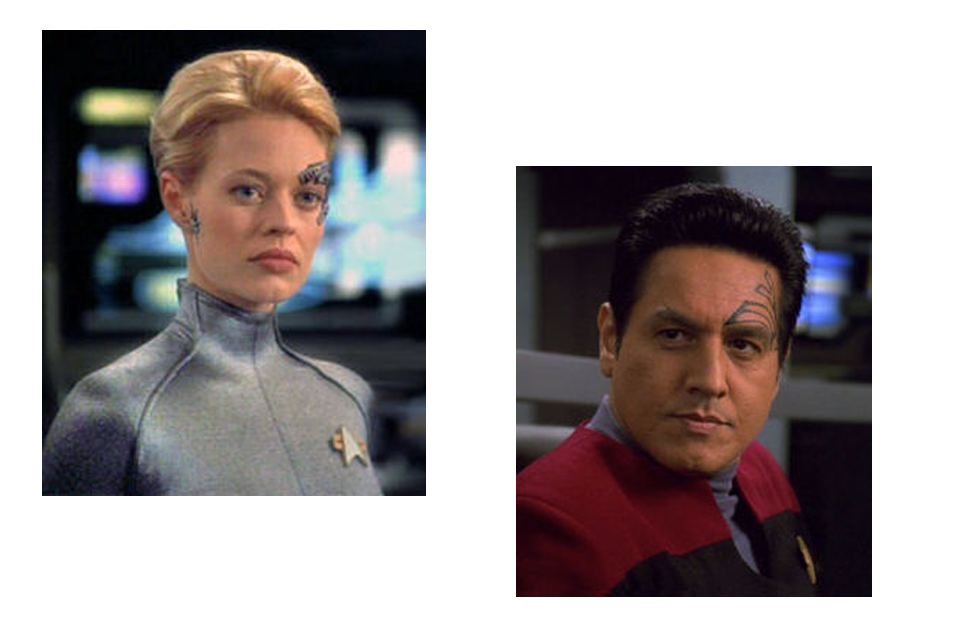 7 of 9 and Chakotay