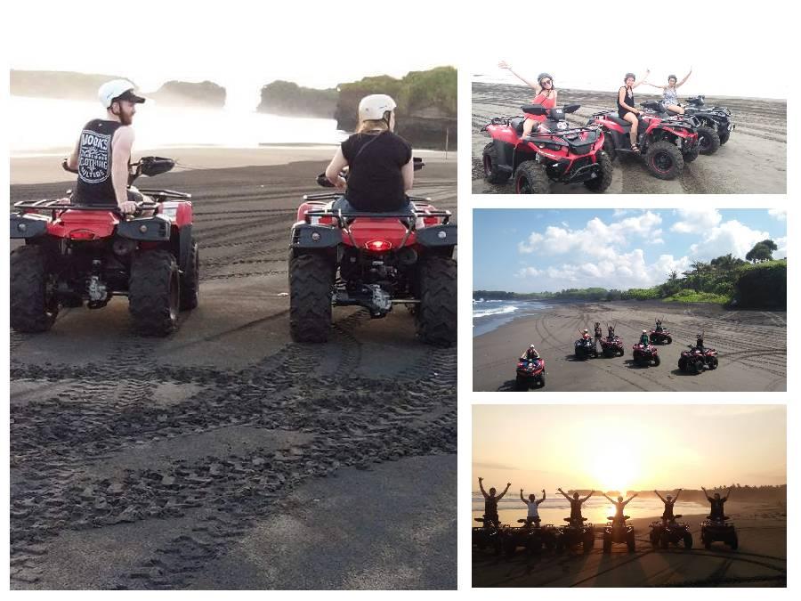 Bali ATV Ride On The Black Sandy Beach