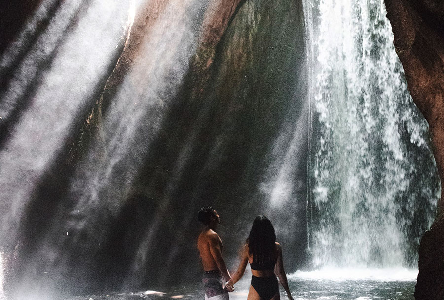 Tukad Cepung Waterfall, A Hidden Bali Private Tour Paradise behind Cliffs