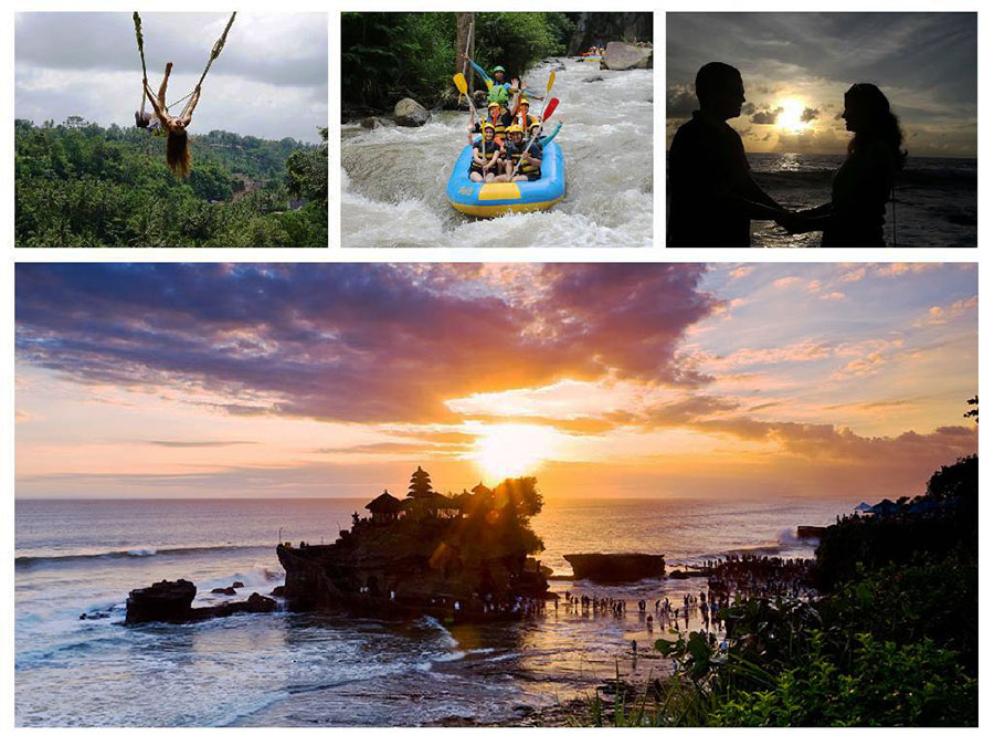 Bali Swing - White Water Rafting and Sunset at Tanah Lot Temple