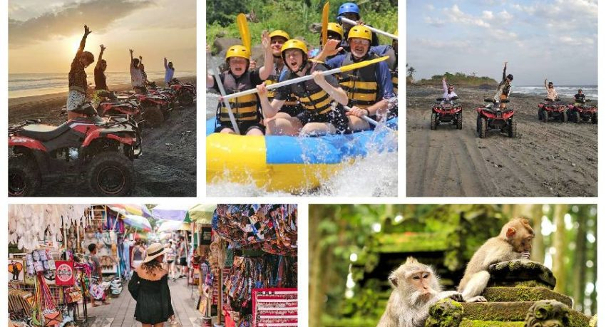 Bali Private Tour - Monkey Forest - White Water Rafting - Sunset ATV Ride On The Beach