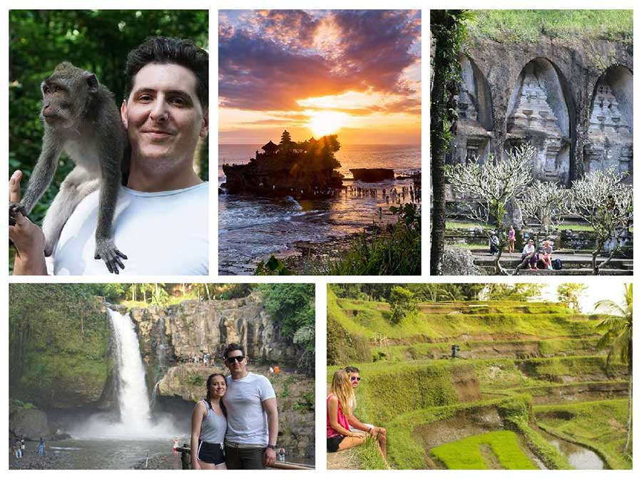 Sunset Tanah Lot - Tegenungan Waterfall - Ubud Tour