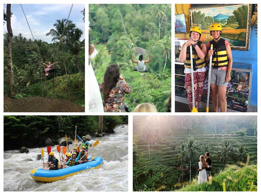 Tegalalang Rice Terrace - White Water Rafting and Uma Pakel Swing