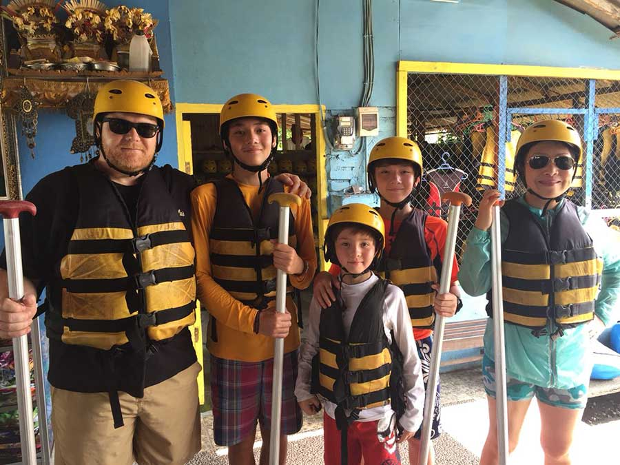 White Water Rafting at Ayung River Tour Bali Safest Driver
