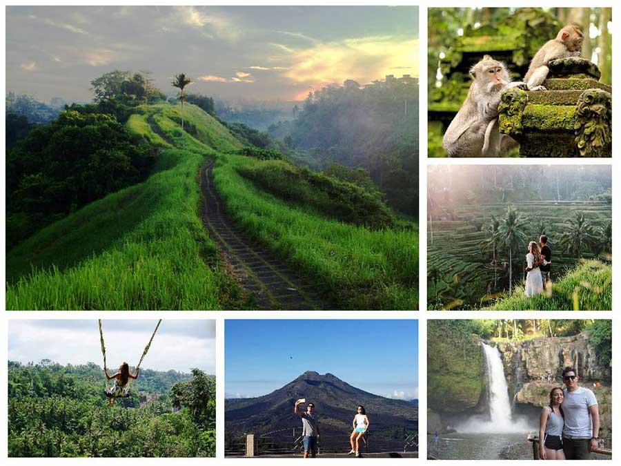 Campuhan Ridge Walk, Alas Arum Swing and Tegenungan Waterfall