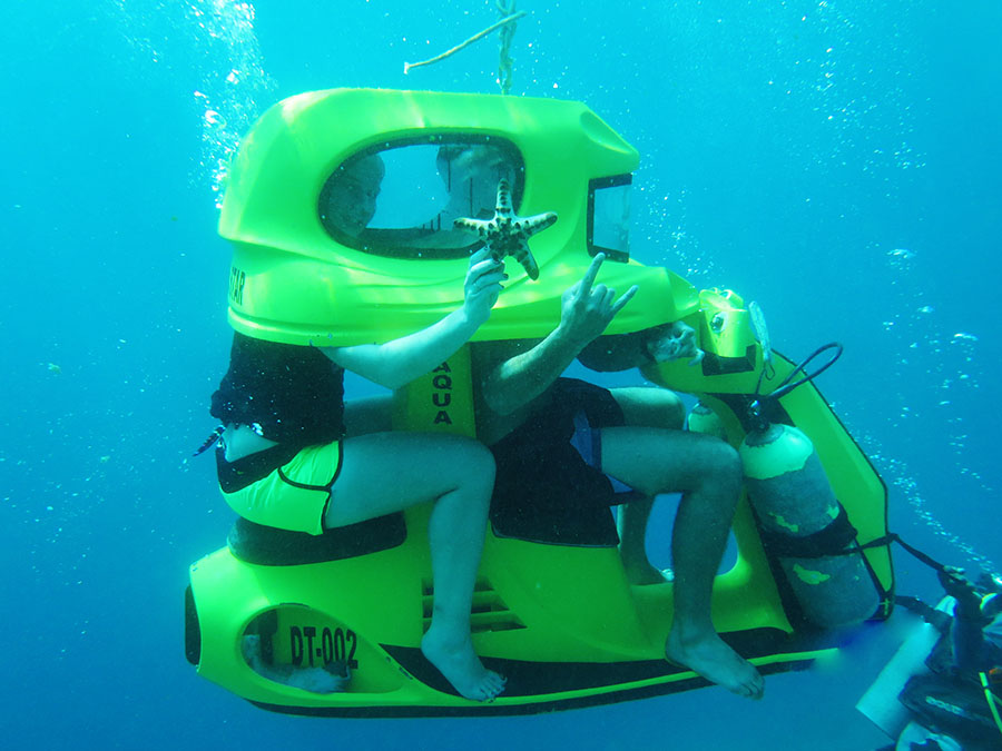 Underwater Scooter Riding Bali