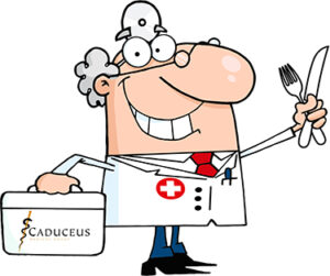 cartoon image of doctor