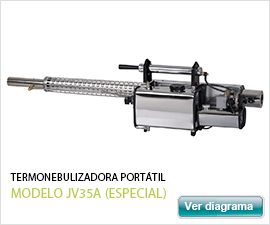 Control de plagas y fumigaciones termonebulizador portatil jv35A