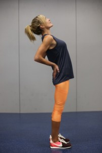 Stretch your low back with this standing stretch.