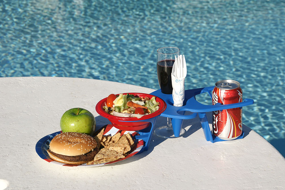 HandiTray One Hand Tray Food Beverage Tray Utensil Invention Holds Everything Idea
