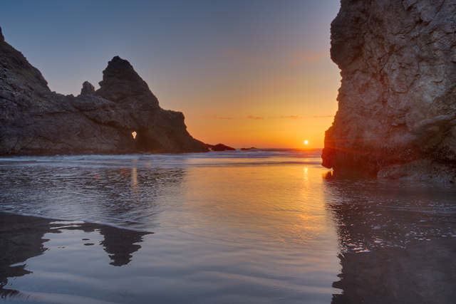 Myers Beach Sunset, Pistol River State Park, Oregon