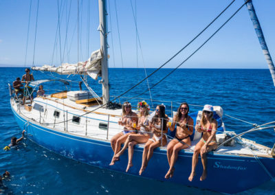 Shadowfax Maui sailing charters - happy guests