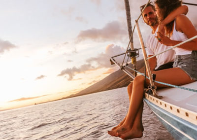 Shadowfax Maui sailing charters - sunset cruise