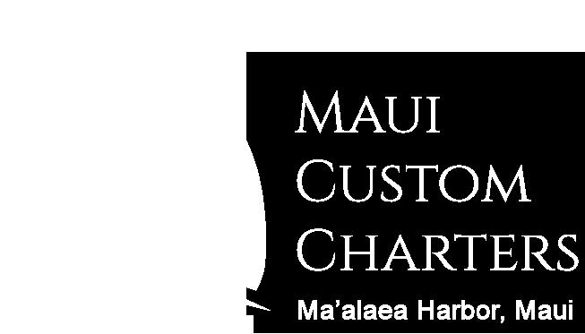 Maui Custom Charters white logo