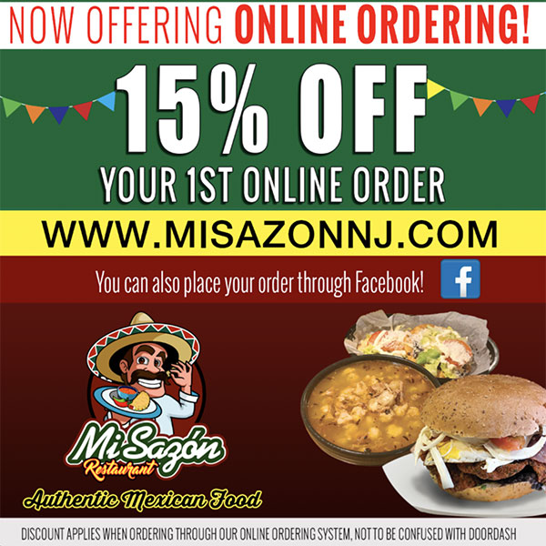 15% OFF for first Online Order
