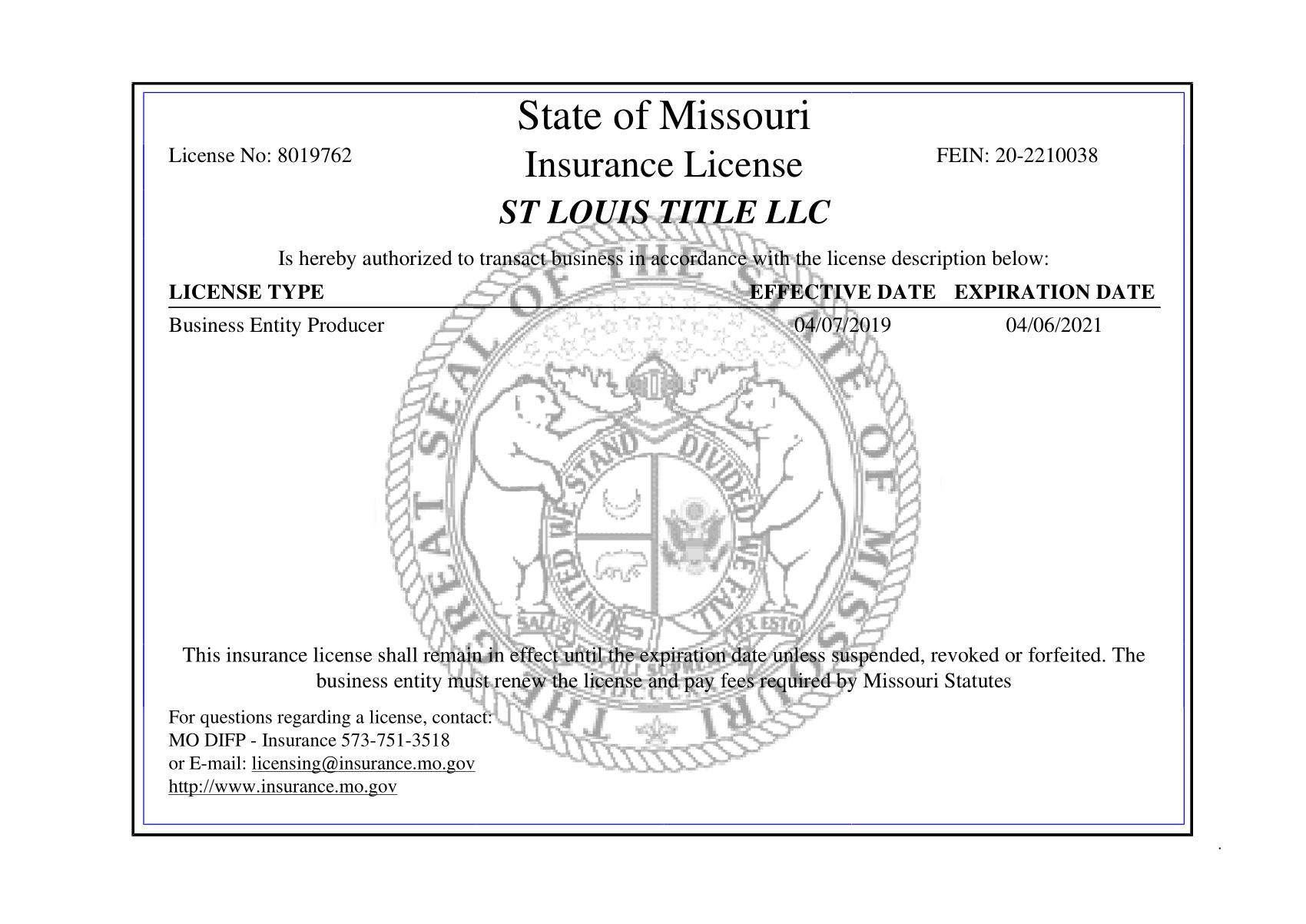 St  Louis Title, L L C    Your Commercial Title Specialists