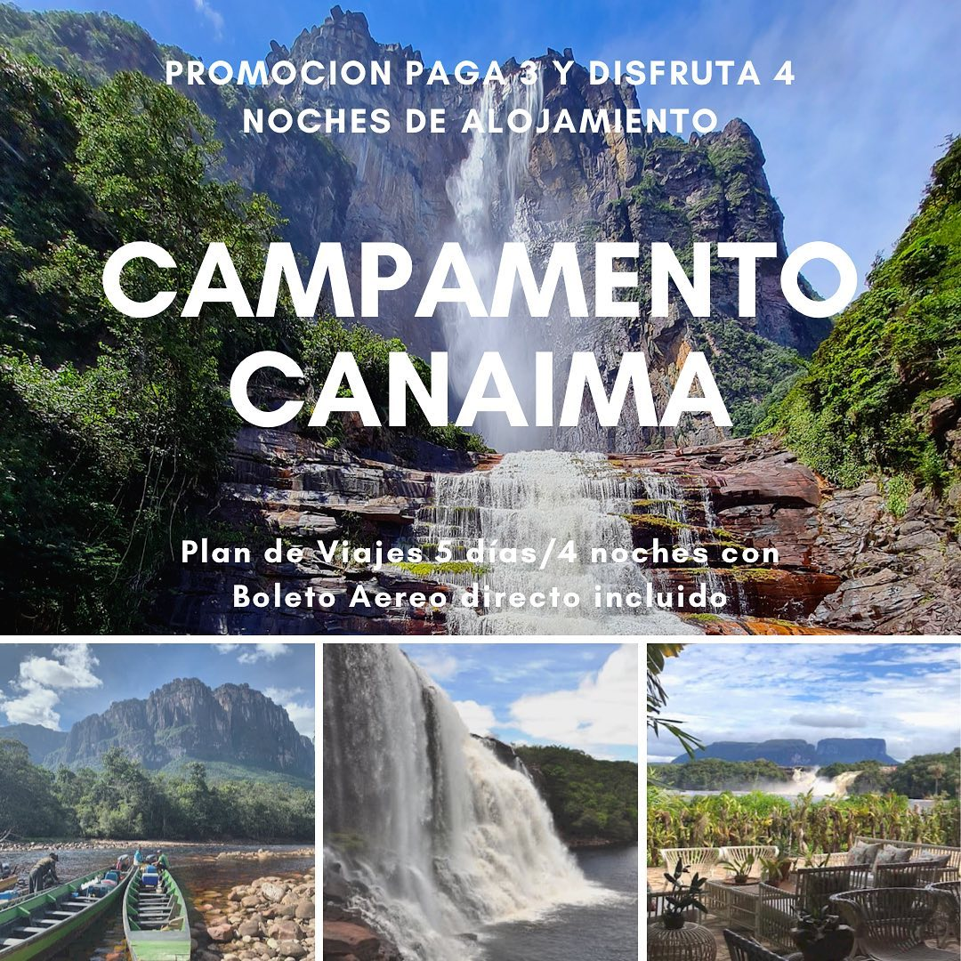 Campamento Canaima en Semana Santa 2021 - Nbg Agencia de Viajes en Caracas