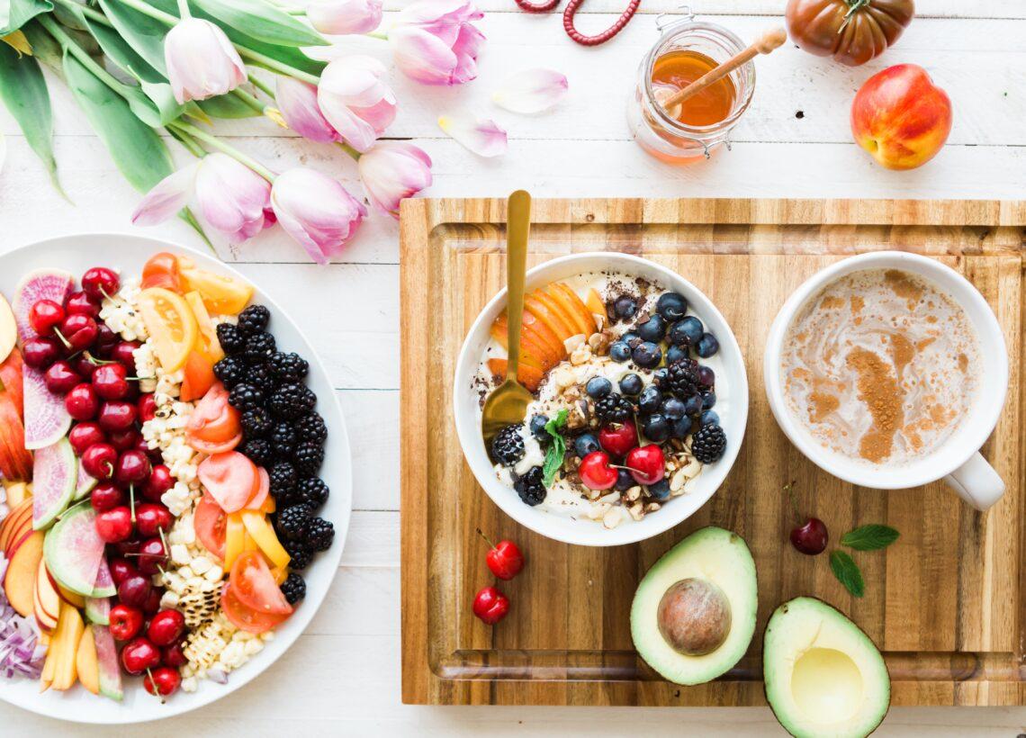healthy food flatlay