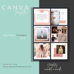 Boutique CANVA Template
