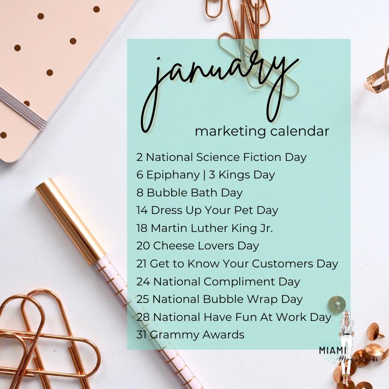 Holiday Marketing Calendar 2021