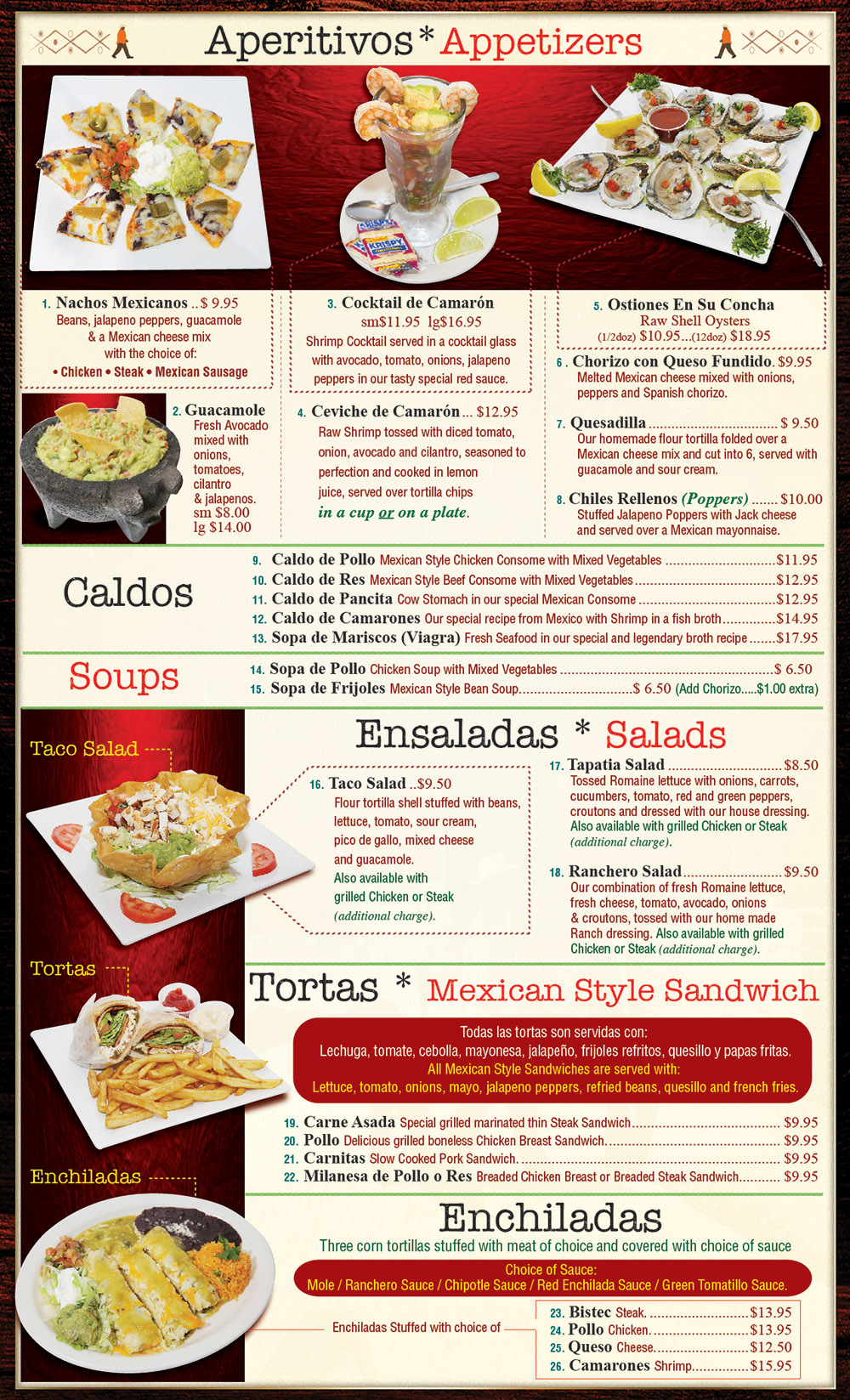Plaza Tapatia Asbury Park NJ Menu Page 1