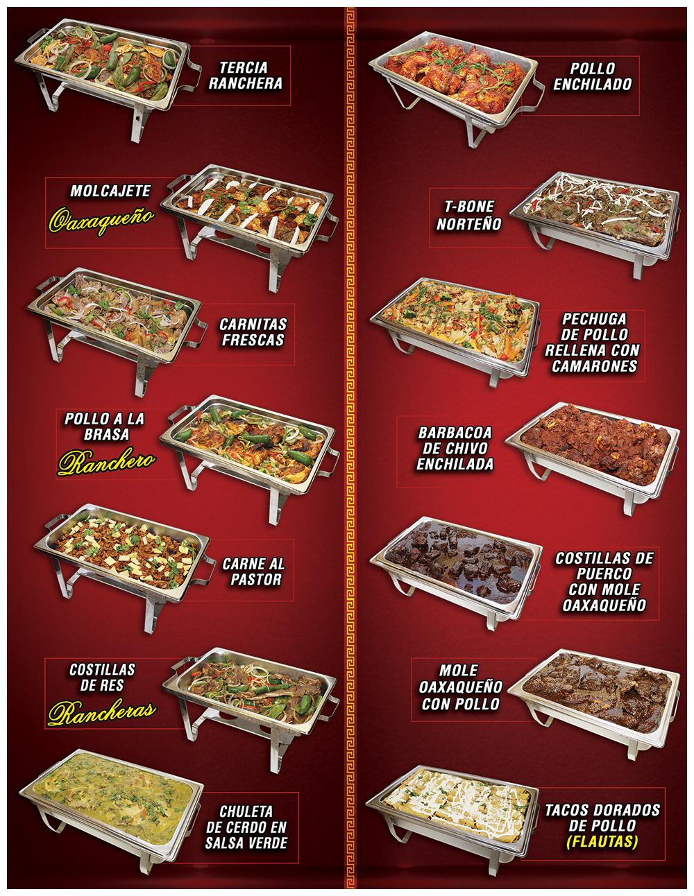 Tapatia Catering Menu Page 1