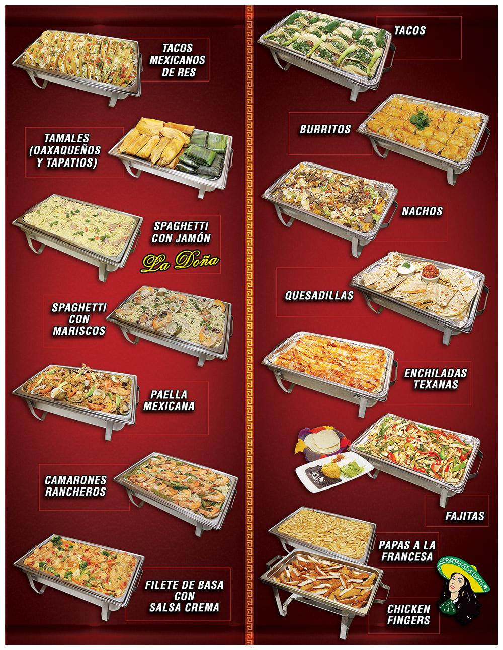 Tapatia Catering Menu Page 2