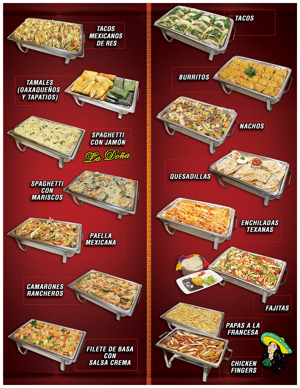 Tapatia Catering Menu Page 2
