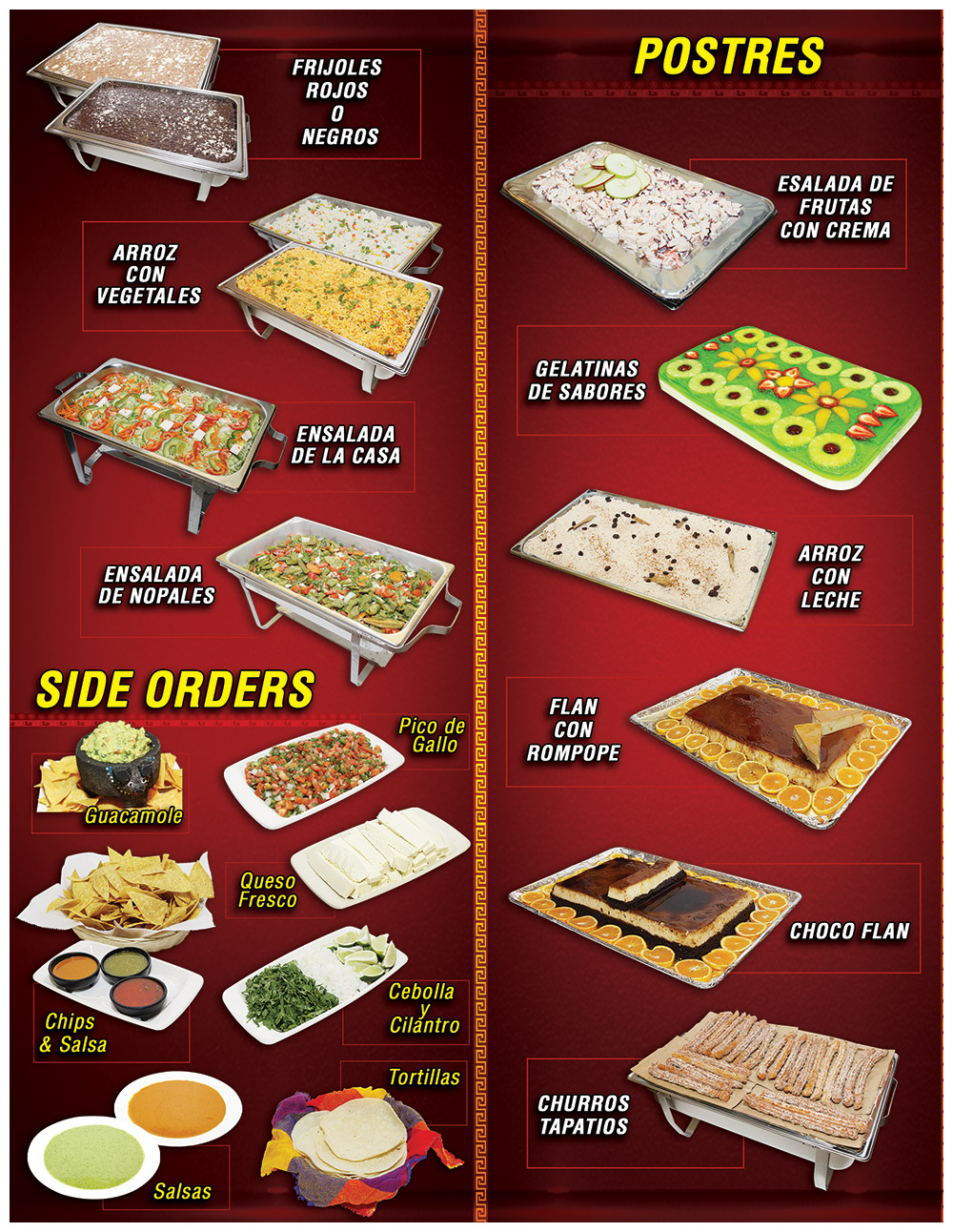 Tapatia Catering Menu Page 3