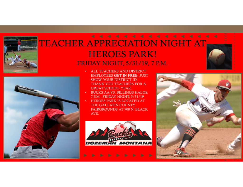 Teacher Appreciation Night 5/31/19, 7 p.m.