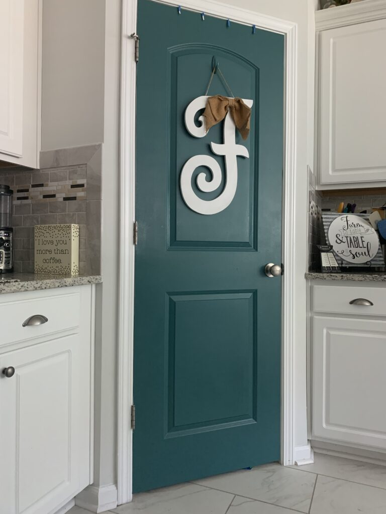 Savannah Blogger, Being Mrs. Fowler, 6 Projects to do while you are home, home update, pantry door, kitchen