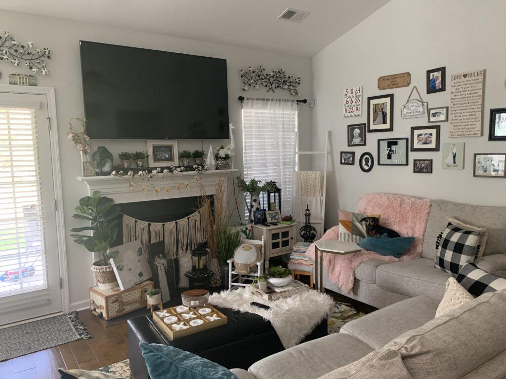 Being Mrs. Fowler, Making a House a Home, Boho Farmhouse Decor Ideas,  Living Room