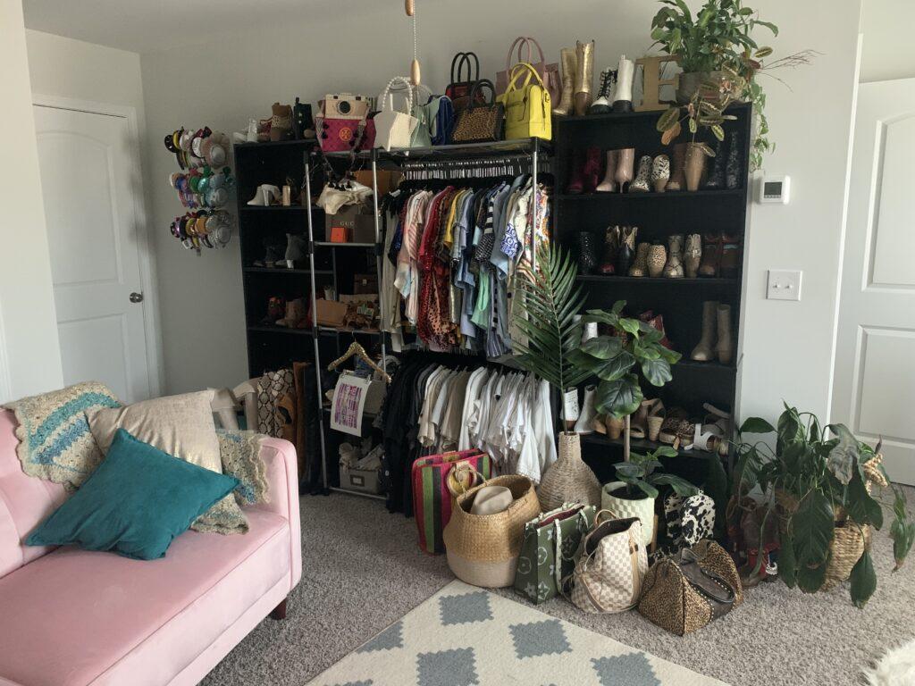 Being Mrs. Fowler, Making a House a Home, Boho Farmhouse Decor Ideas,  Closet Room