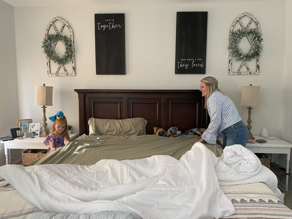 spring cleaning ideas, have your family assist