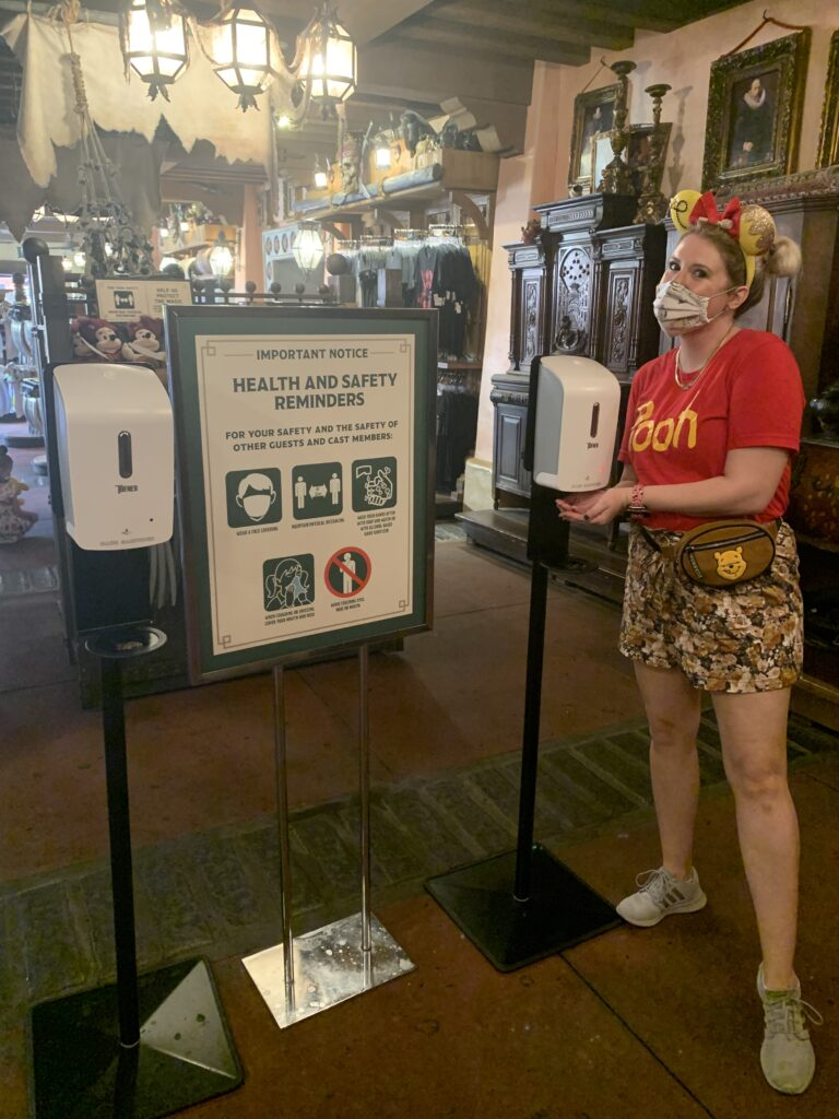 Disney during a pandemic, wash hands