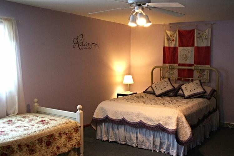 lights of Lilac room, Valley Springs Farm, Reedsburg, WI