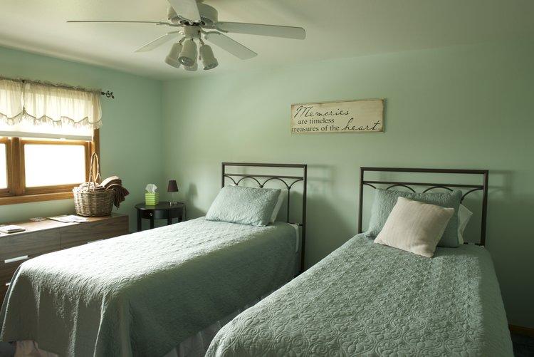 Split twin beds, Valley Springs Farm, Reedsburg, WI
